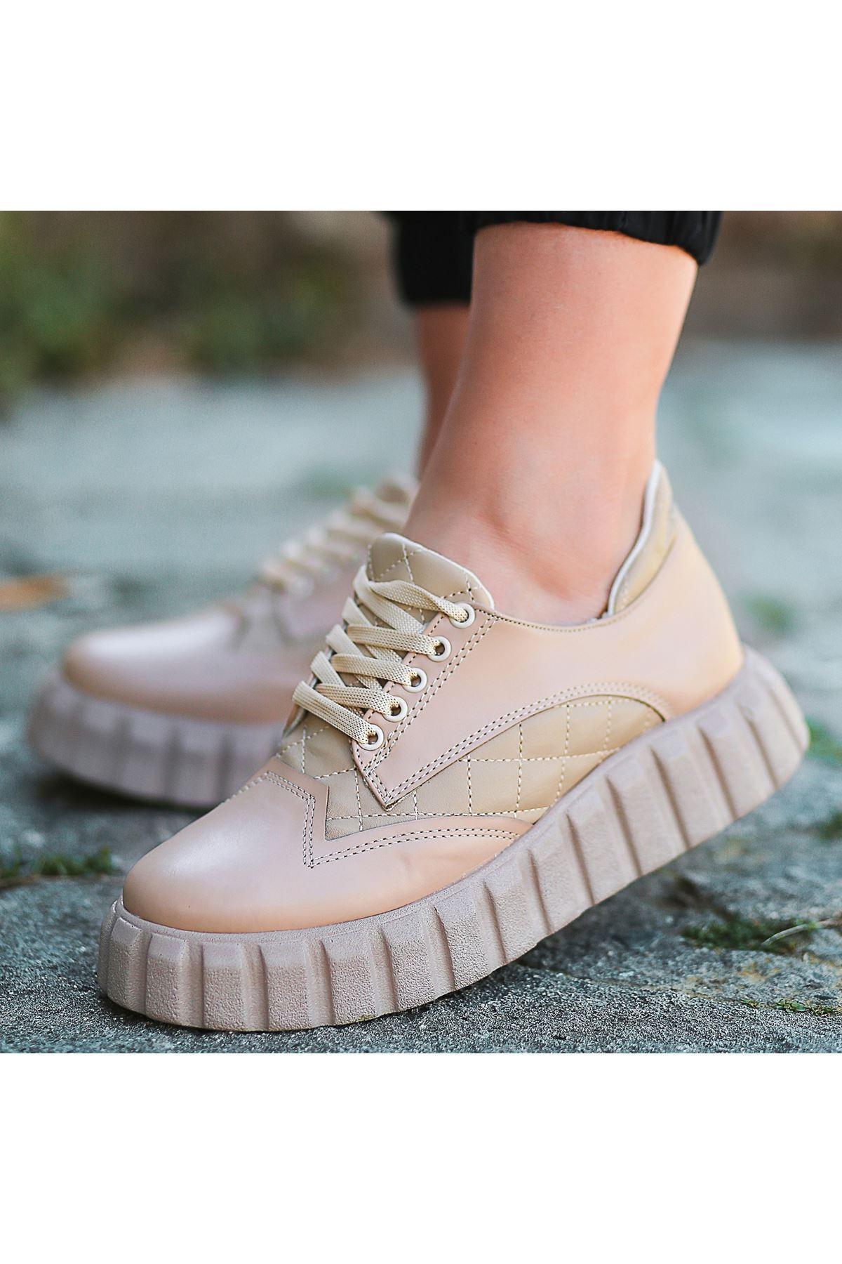 Ola Vizon Cilt Bağcıklı Spor Ayakkabı