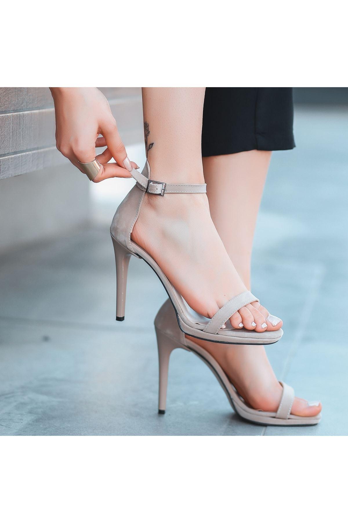 Eica Vizon Süet Topuklu Ayakkabı