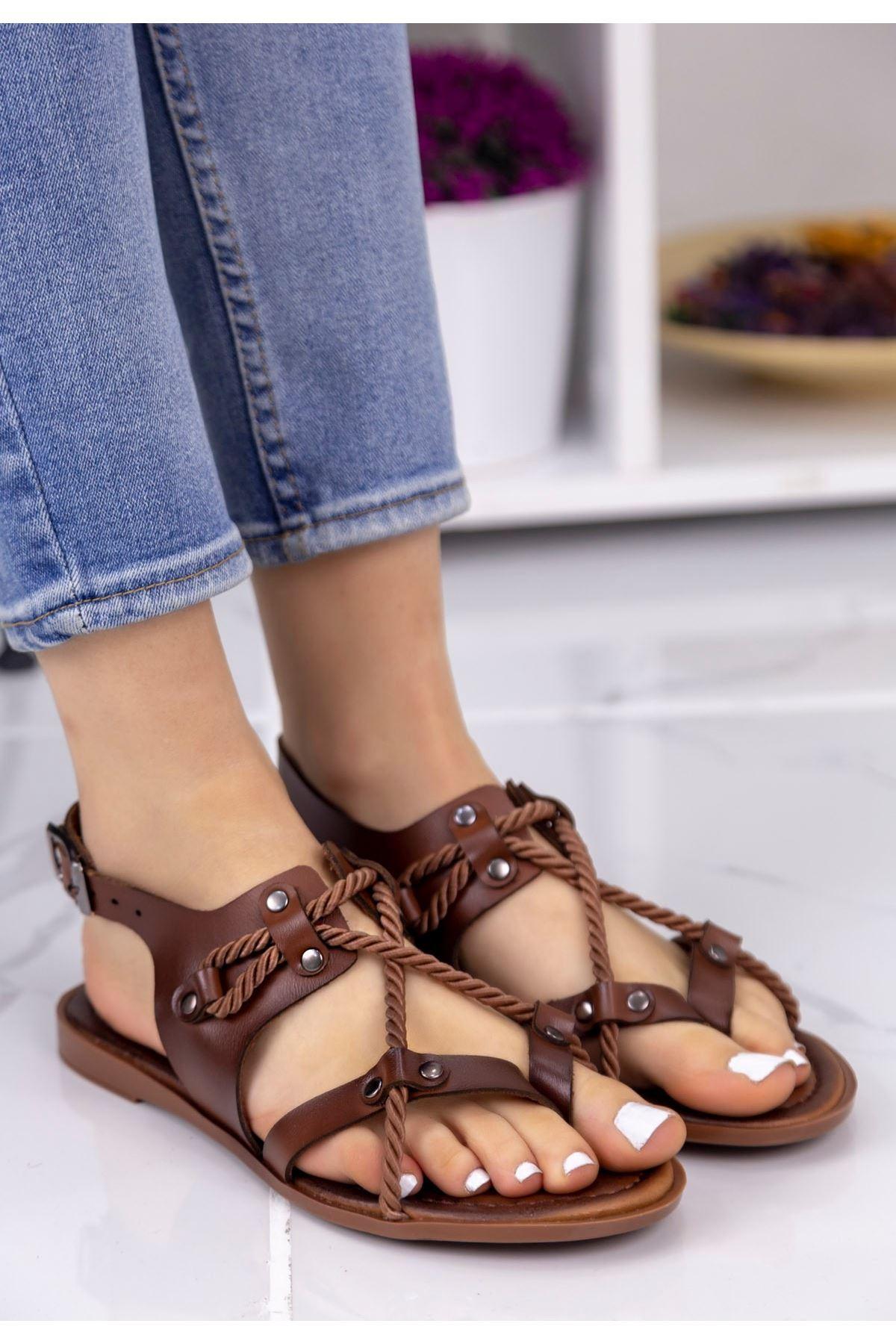 Cass Taba Halatlı Sandalet