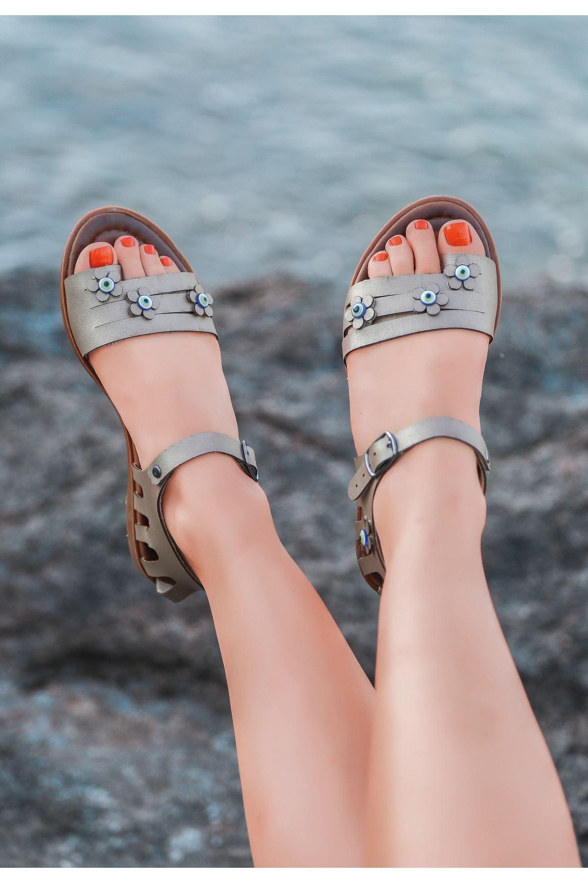 Tonx Vizon Cilt Sandalet