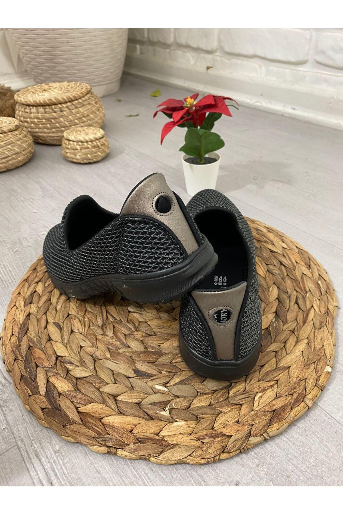 Enox Füme Streç  Babet Ayakkabı