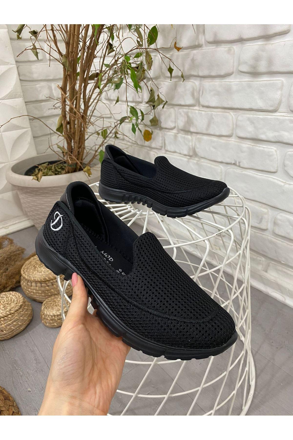 Enox Siyah Streç  Babet Ayakkabı