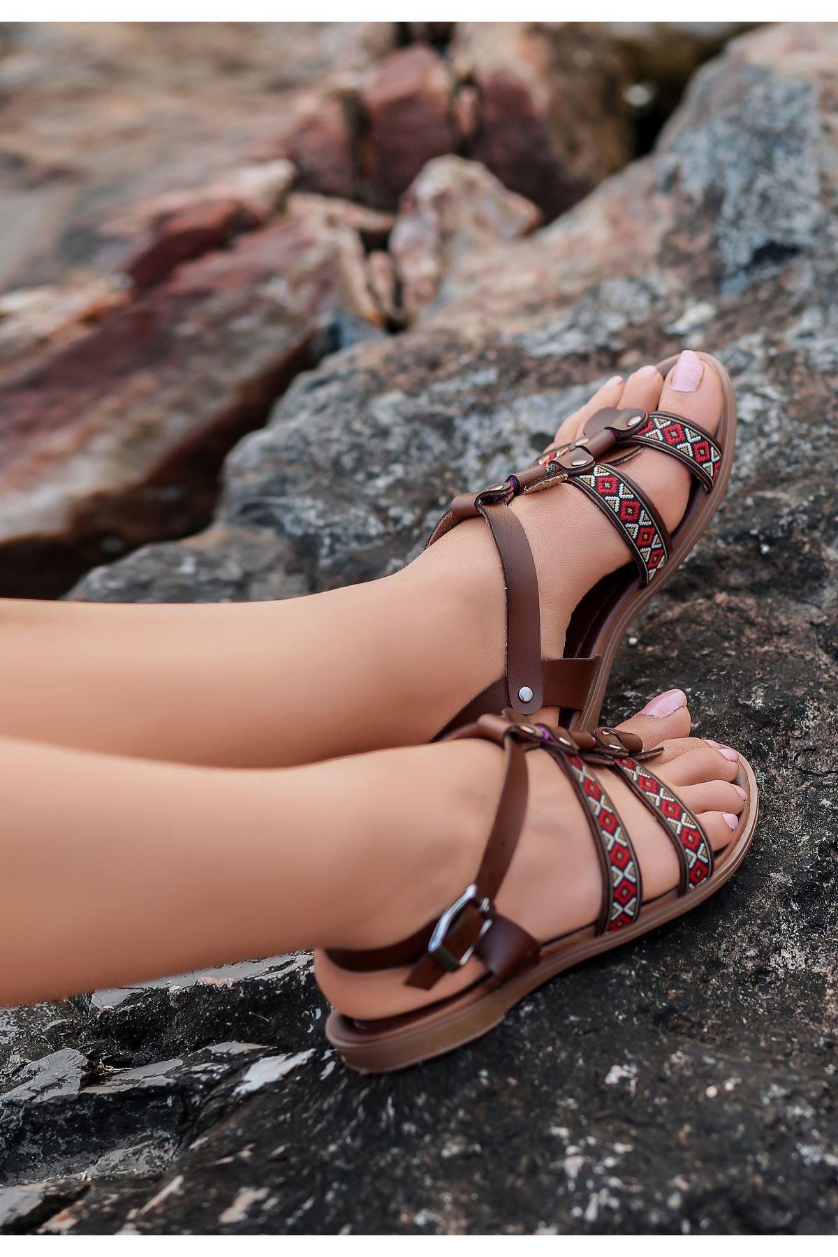 Meryy Taba Cilt Sandalet
