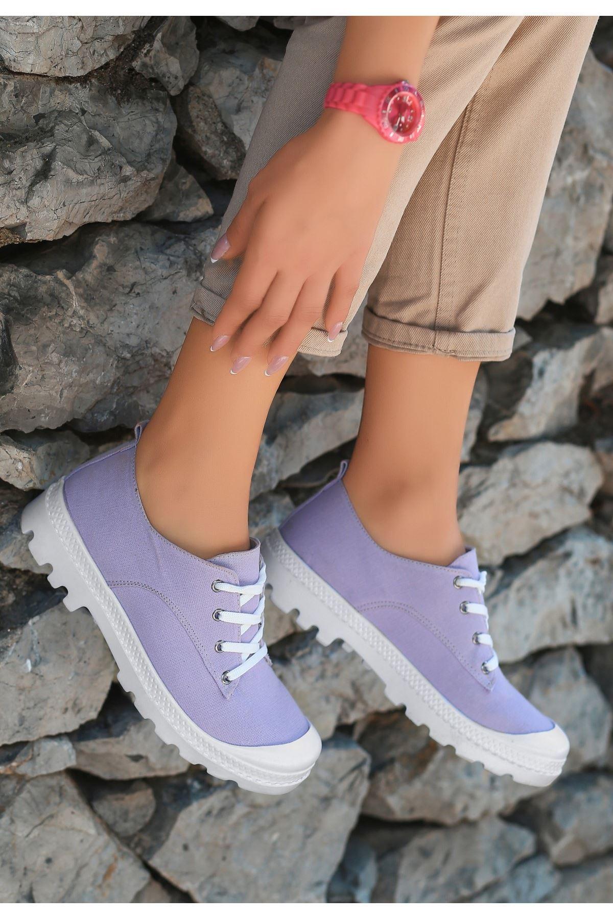 Mash Lila Keten Bağcıklı Spor Ayakkabı