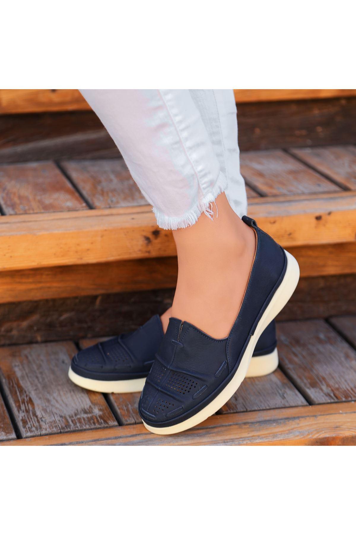 Vico Lacivert Deri Babet Ayakkabı