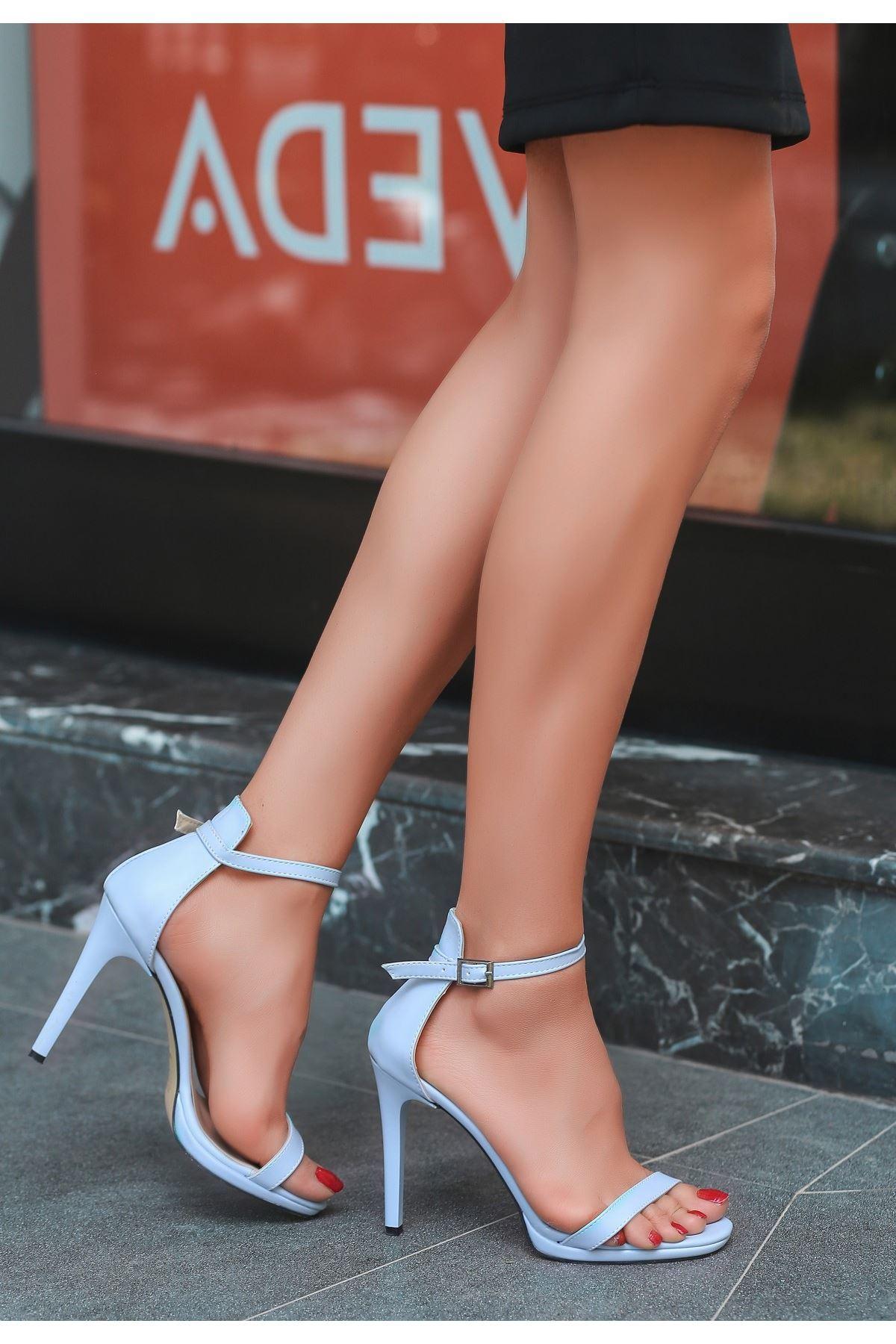 Eica Bebe Mavisi Cilt Topuklu Ayakkabı