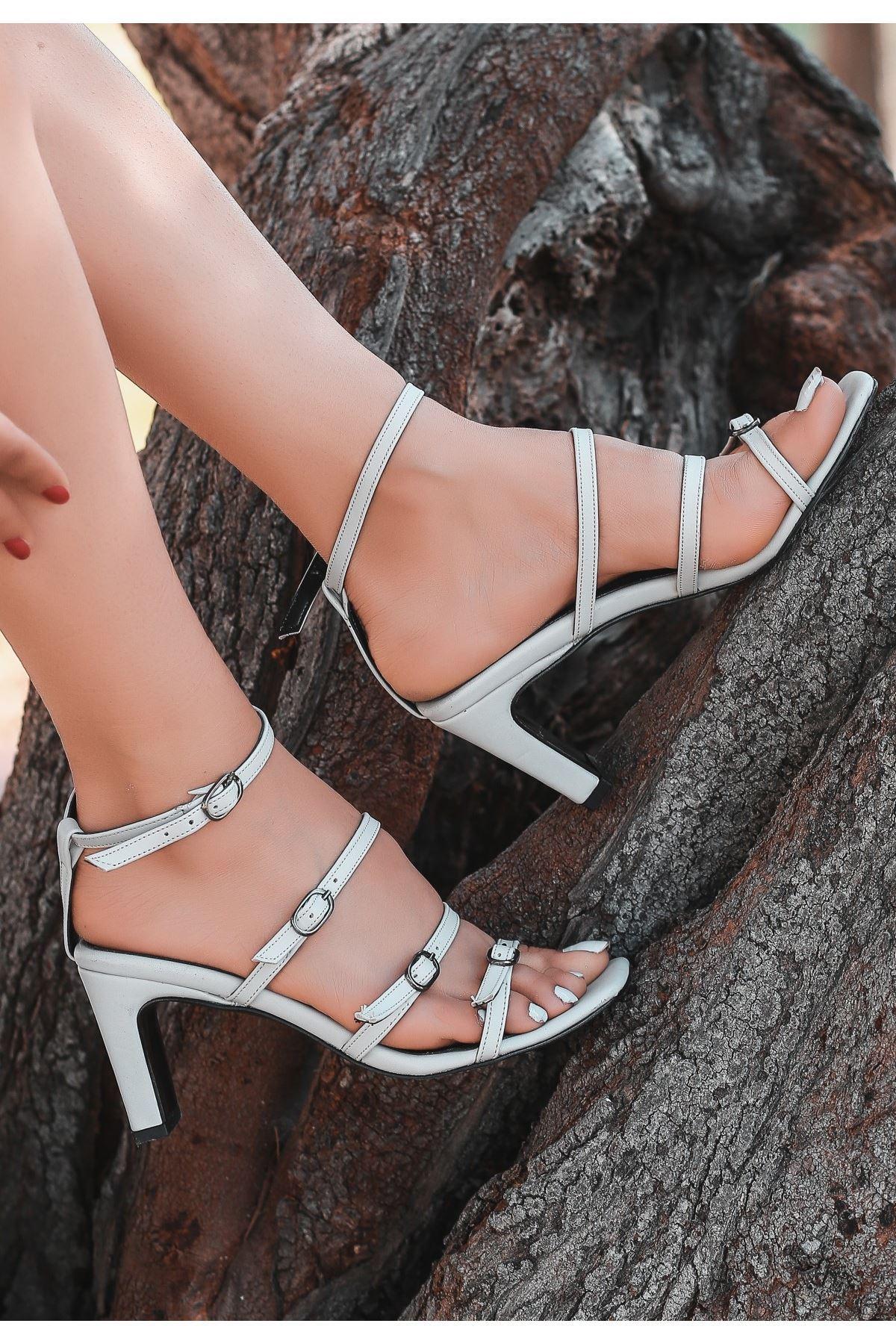 Eleta Bej Cilt Topuklu Ayakkabı