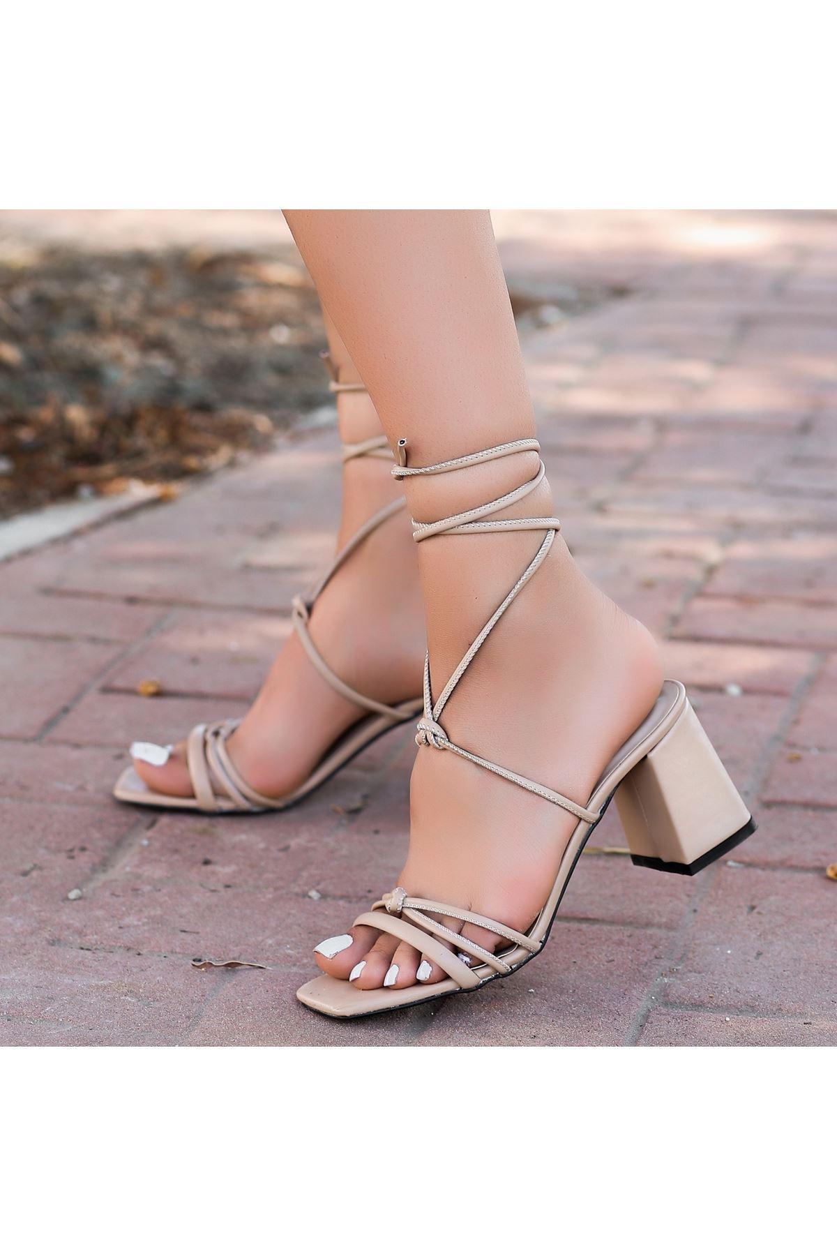 Jost Vizon Cilt Topuklu Ayakkabı