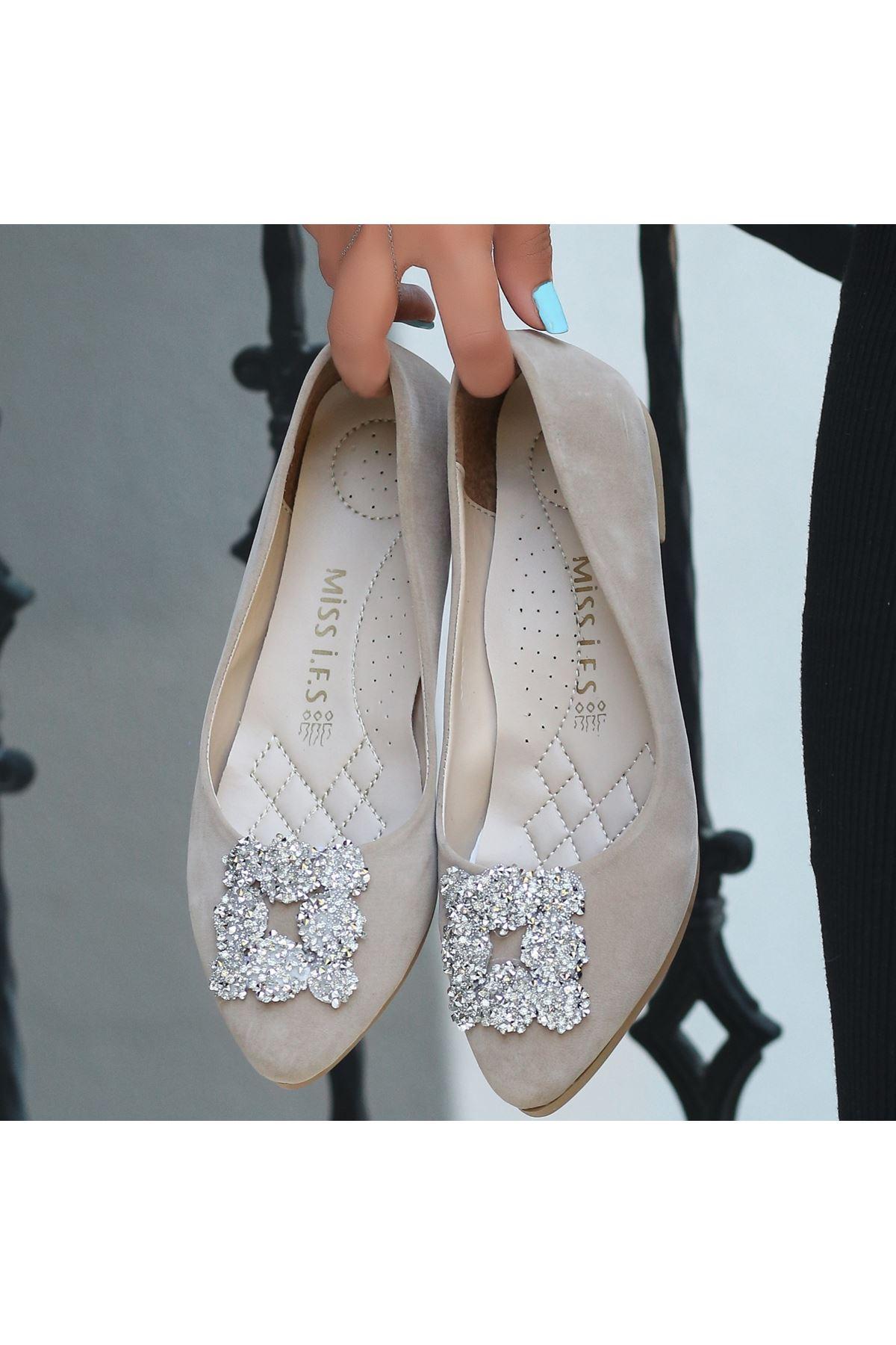 Jian Vizon Süet Babet Ayakkabı