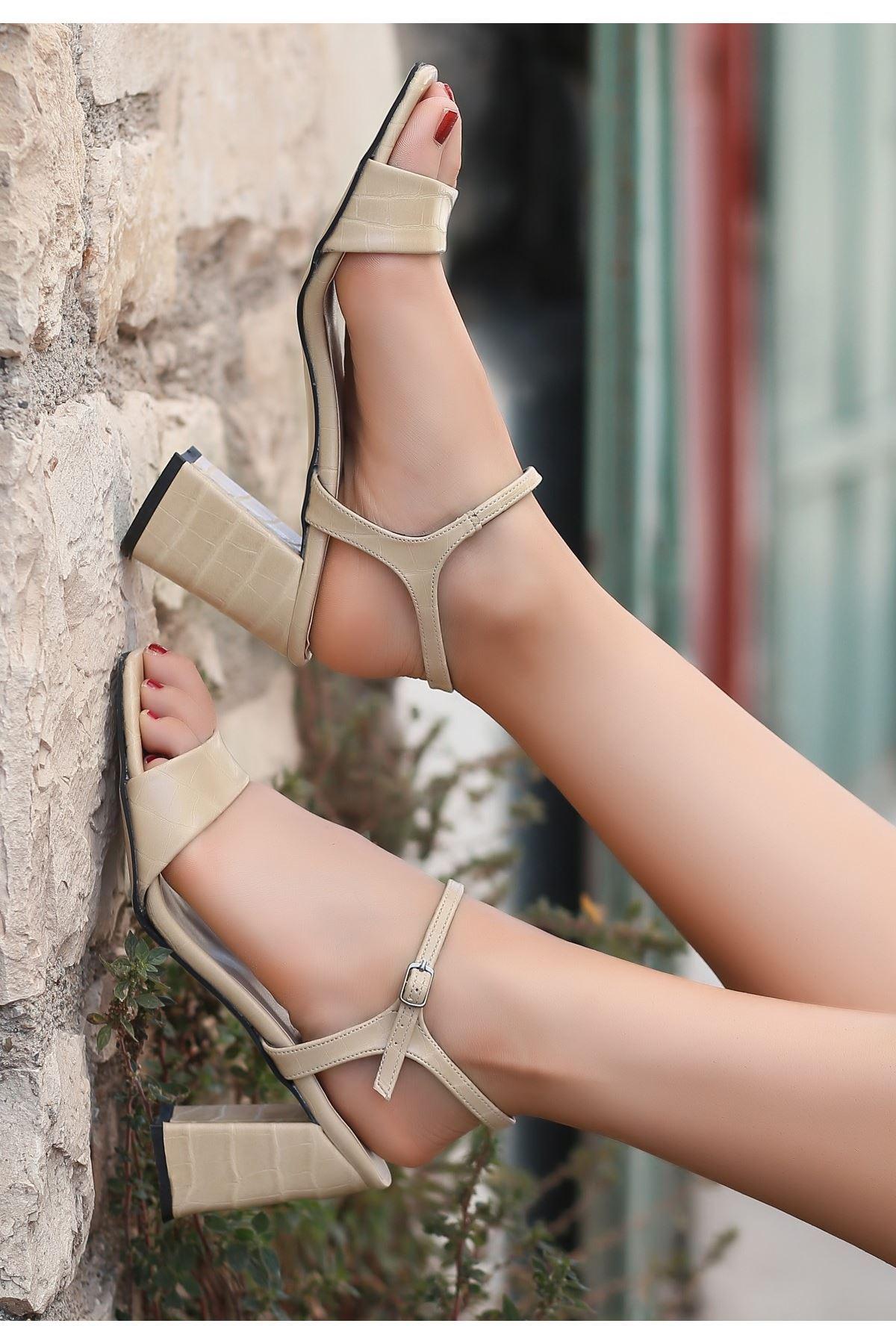 Calvi Vizon Cilt Topuklu Ayakkabı