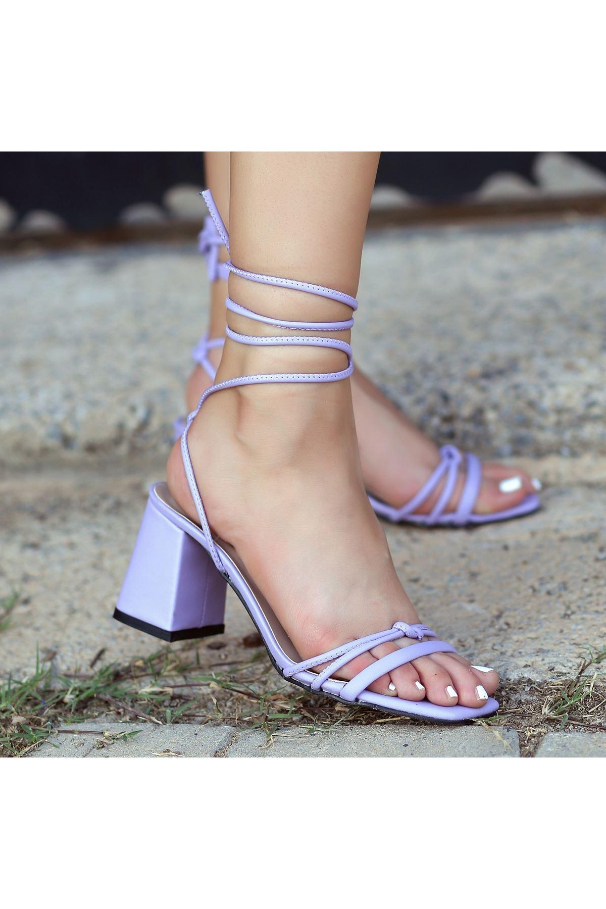 Jost Lila Cilt Topuklu Ayakkabı