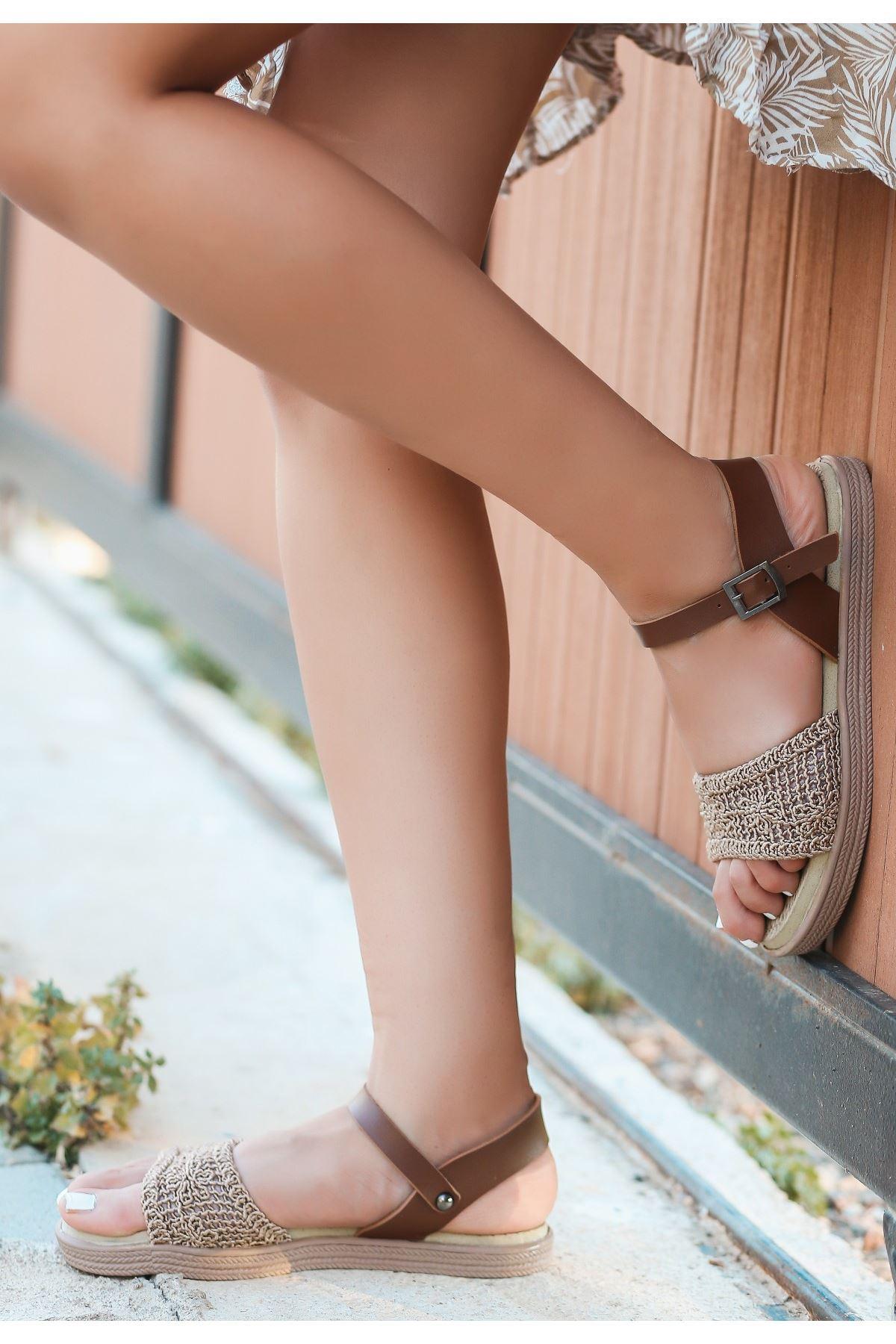 Keha Vizon Örgülü Sandalet