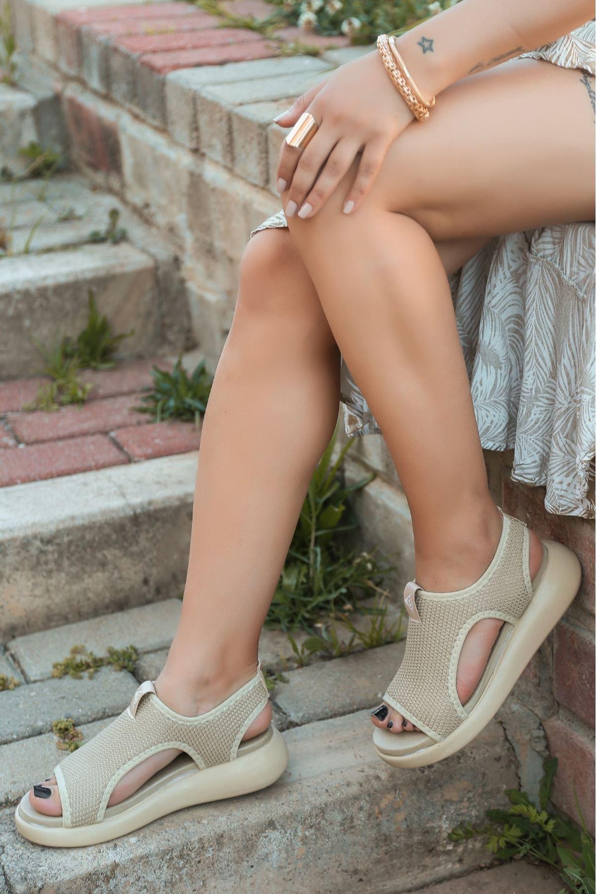 Epti Vizon Triko Sandalet