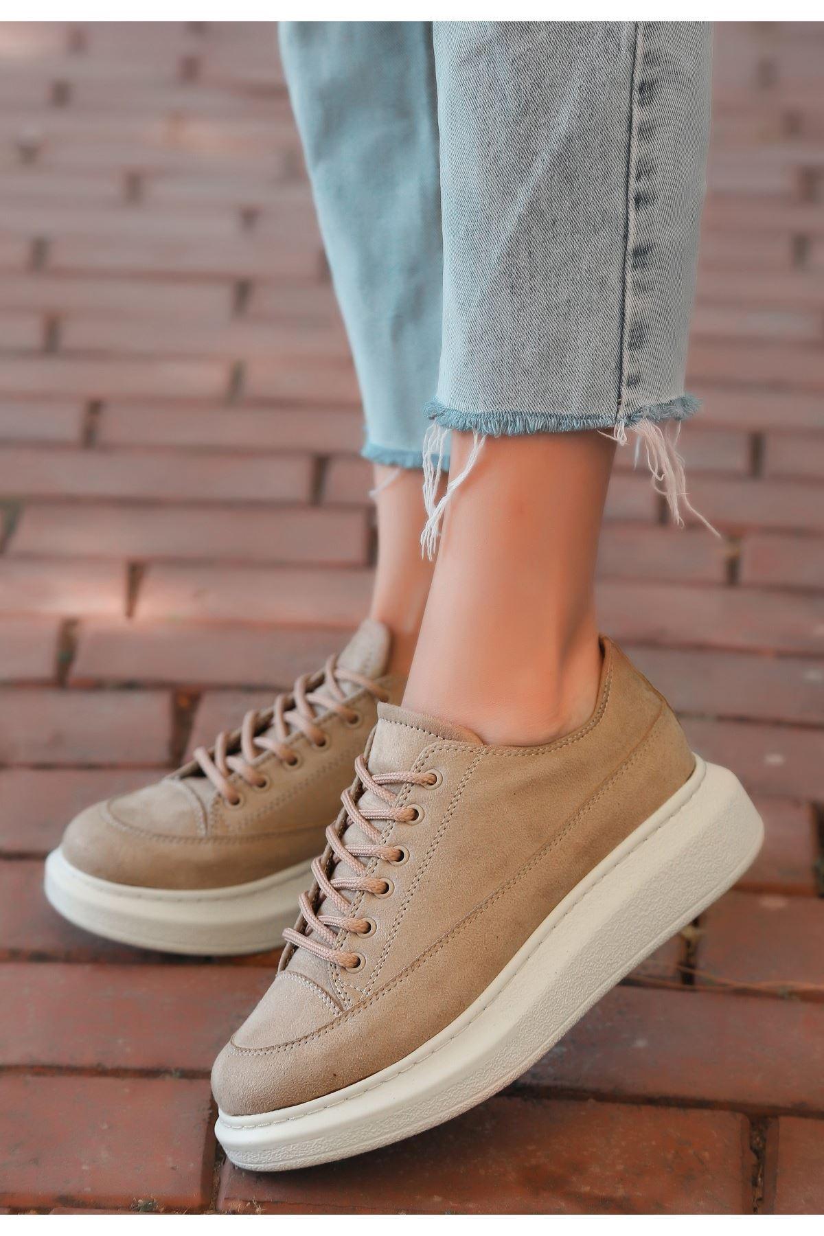 Tija Vizon Süet Bağcıklı Spor Ayakkabı