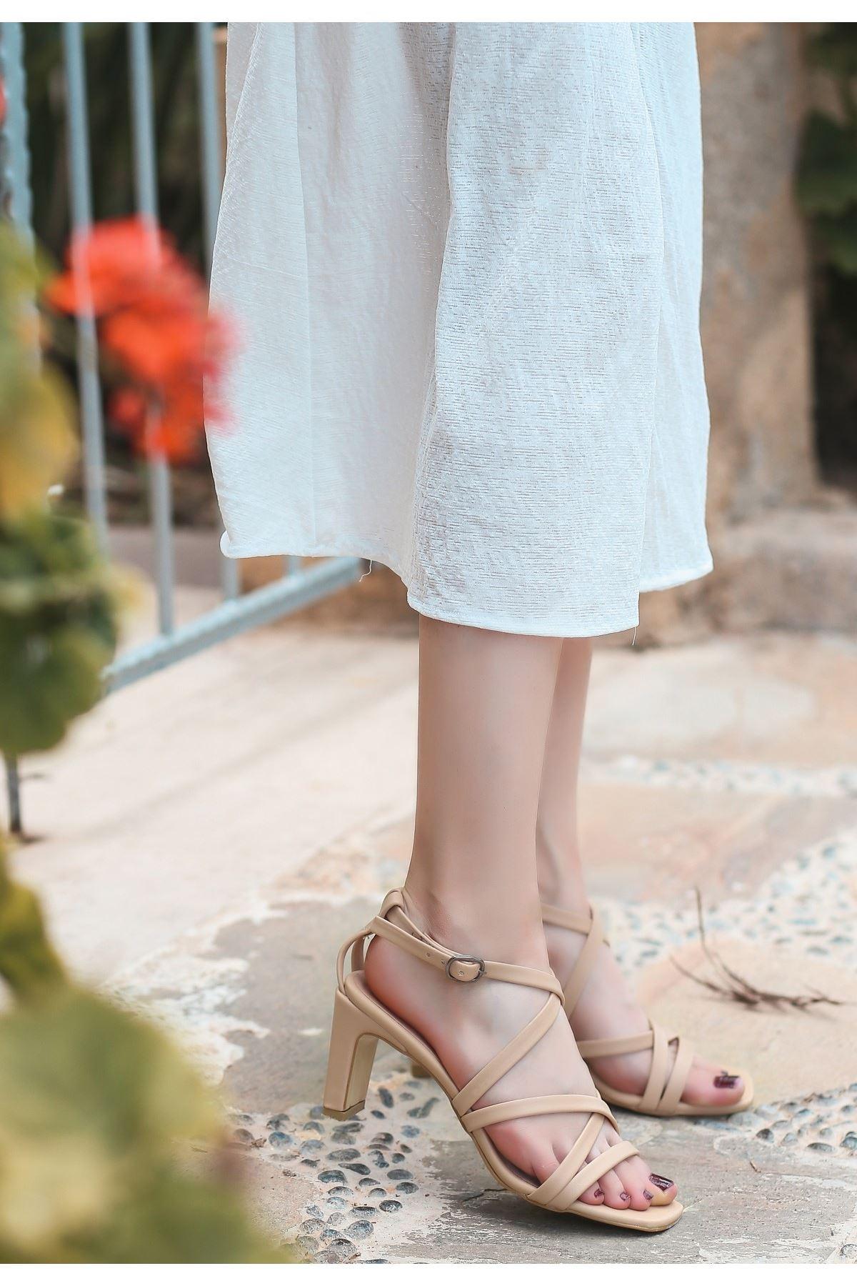 Utic Vizon Cilt Topuklu Ayakkabı