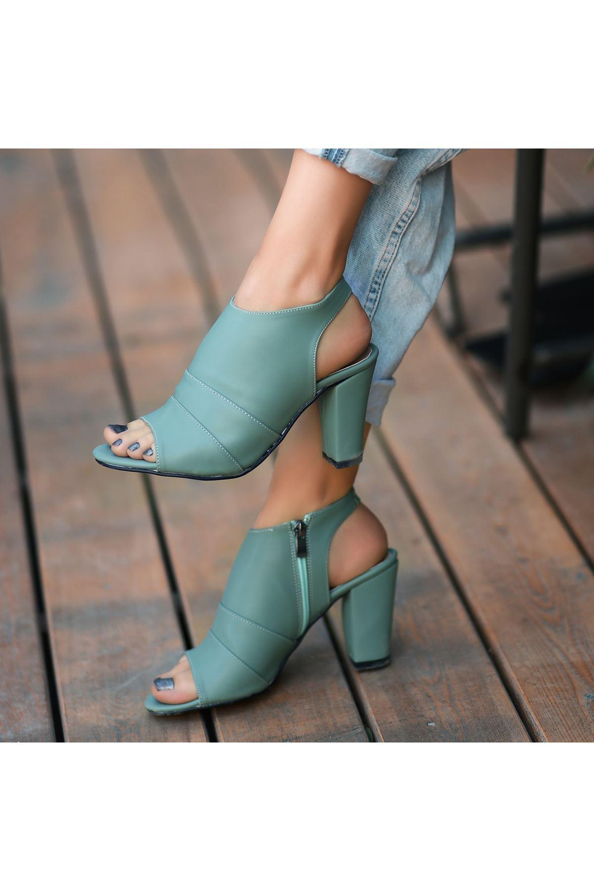 Dolly Mint Yeşili Topuklu Ayakkabı