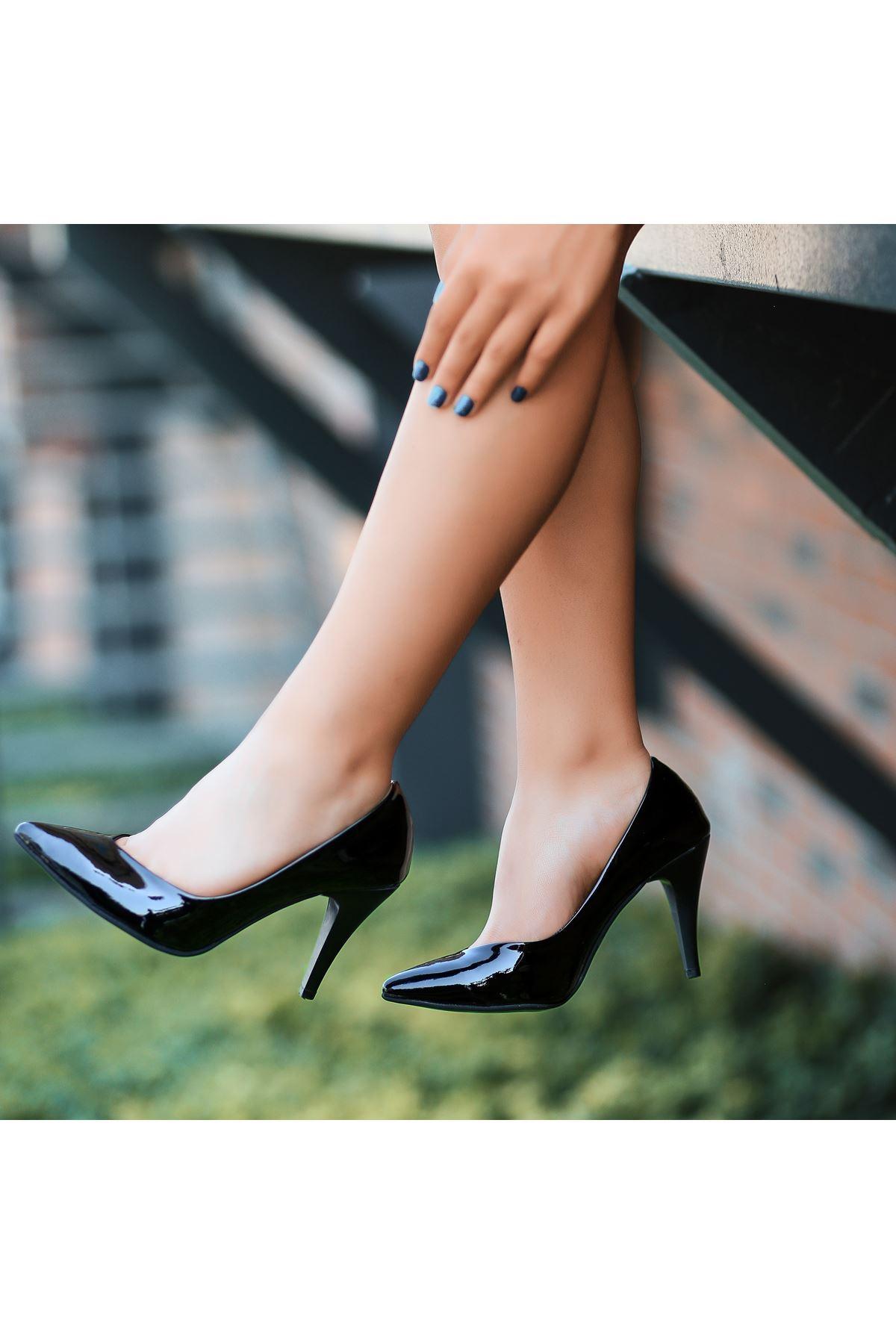 Xina Siyah RuganTopuklu Ayakkabı