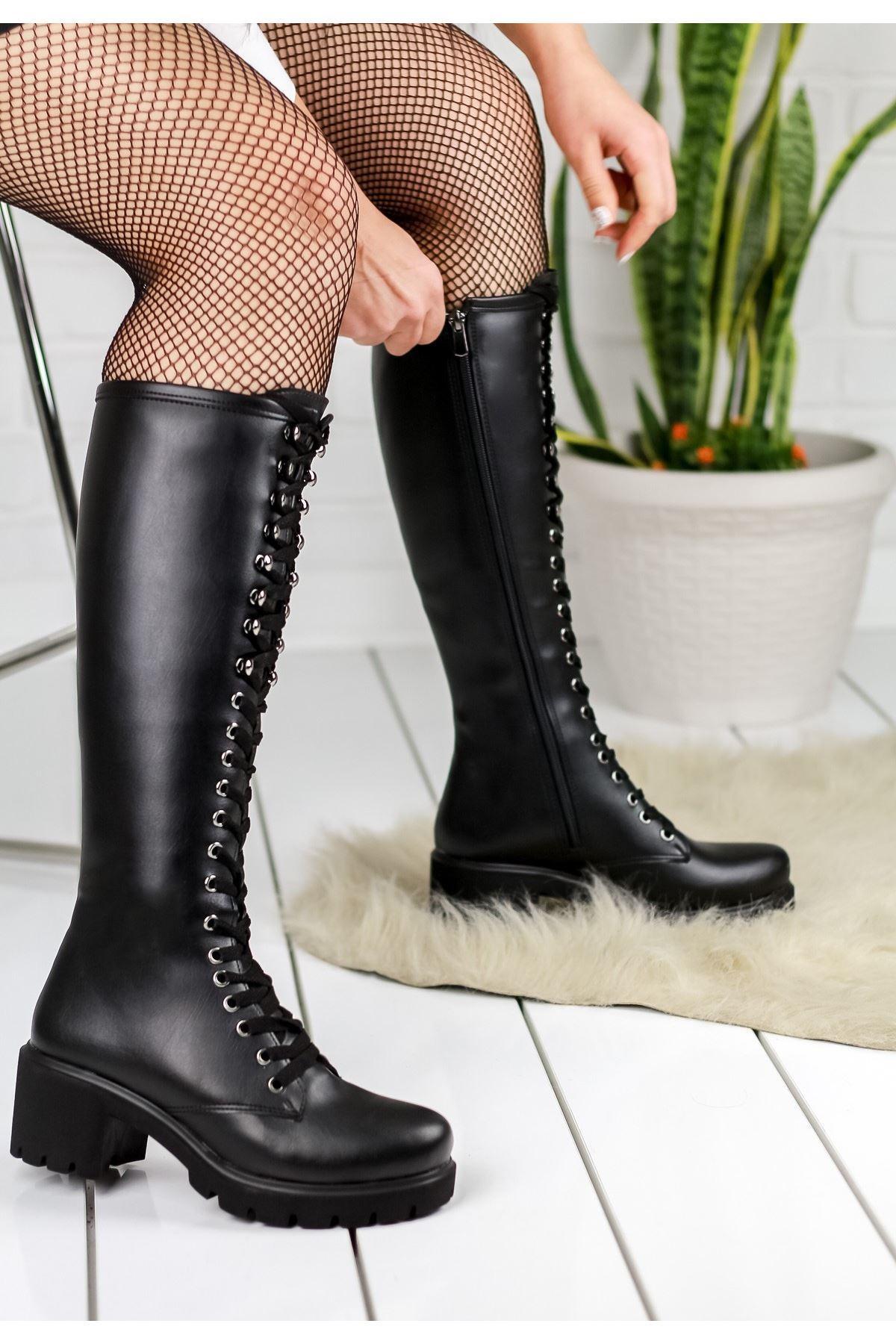Robina Siyah Cilt Çizme
