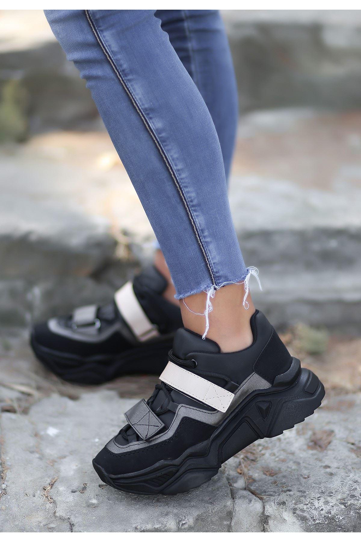 Bend Siyah Nubuk Spor Ayakkabı