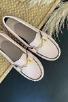 Soho Pudra Deri Tokalı Rok Babet Ayakkabı